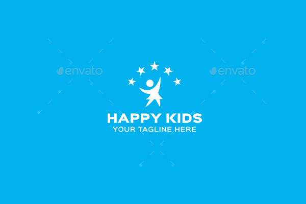 Happy Kids Logo Design
