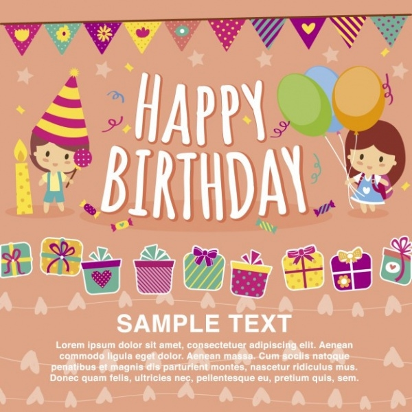 6 Birthday Card Templates
