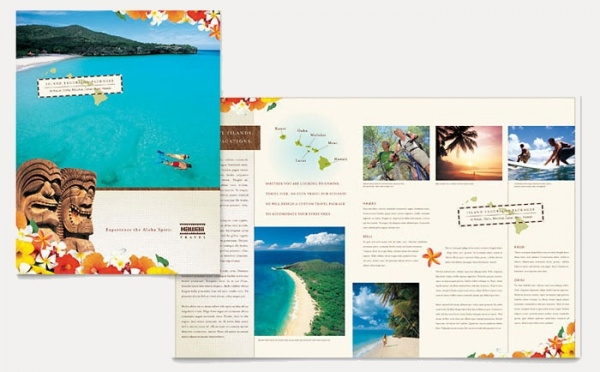 Hawaii Vacation Brochure Template