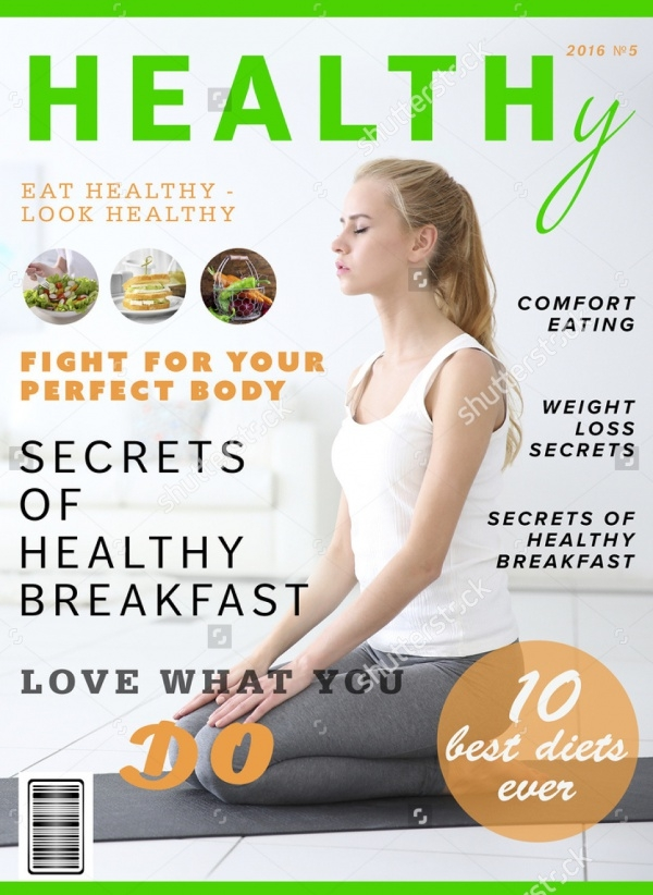 Healthy Nutrition Glossy Magazine