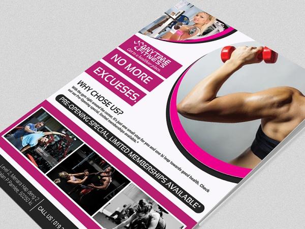 Healthy Sport Gym Training Flyer