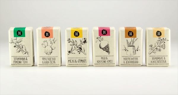 Helleo Natural Soap Packaging Design