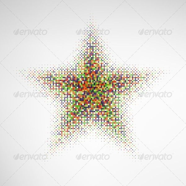 High Quality Vector Star Halftone