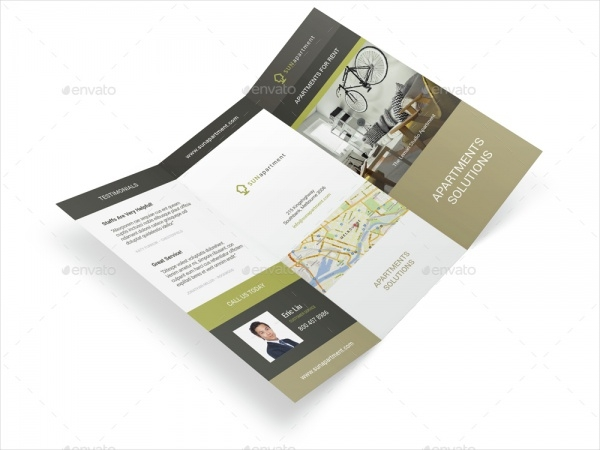 High Resolution Apartment For Rent Trifold Brochure