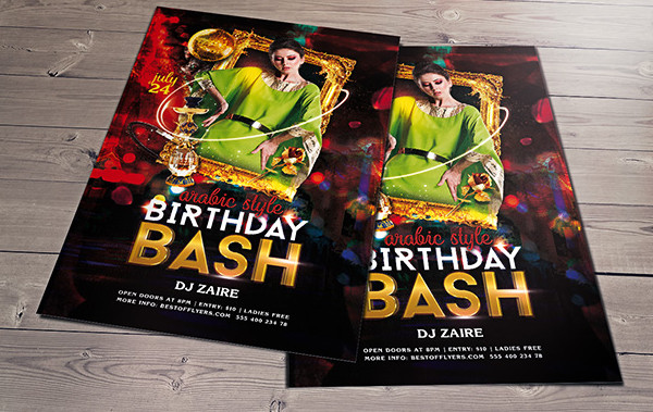 High Resolution Birthday Party Flyer