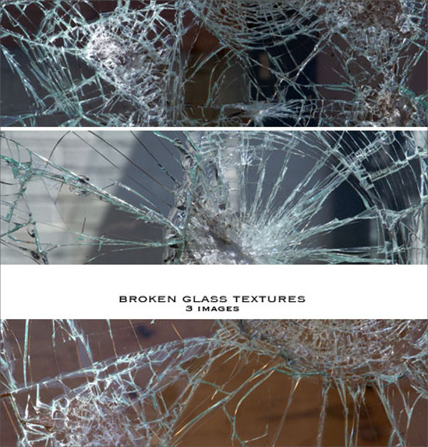 High Resolution Broken Glass Textures