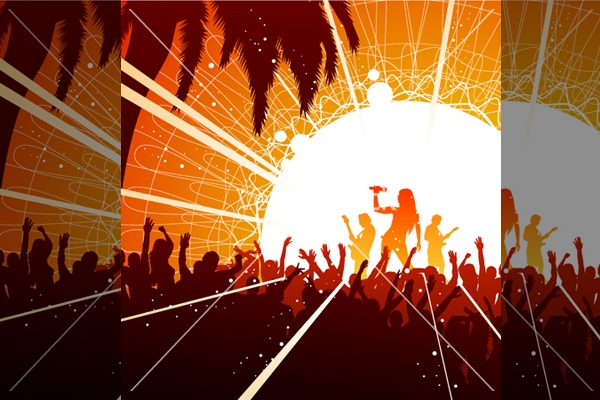 High Resolution Concert Vector