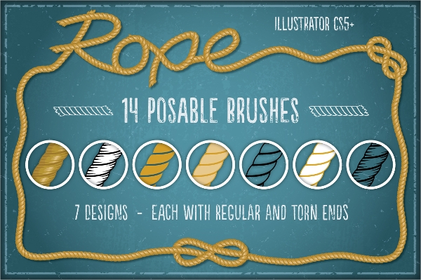 High Resolution Rope Brushes