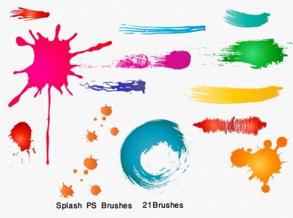 High Resolution Splash PSD Brushes