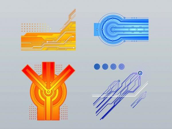 High Resolution Technology Vector