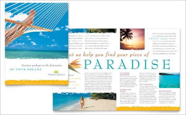 High Resolution Travel Agency Brochure