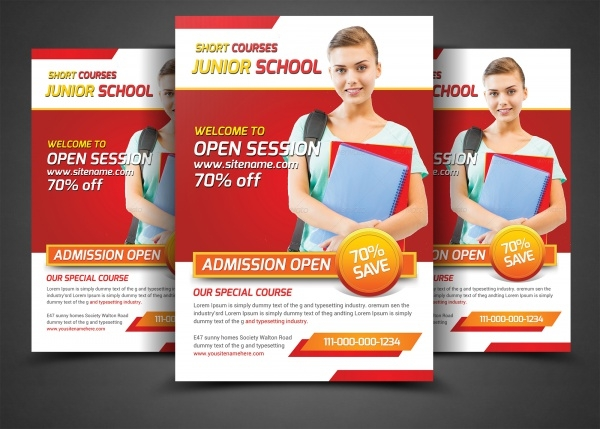 School Flyer Templates PSD Vector EPS JPG Download - High school brochure template