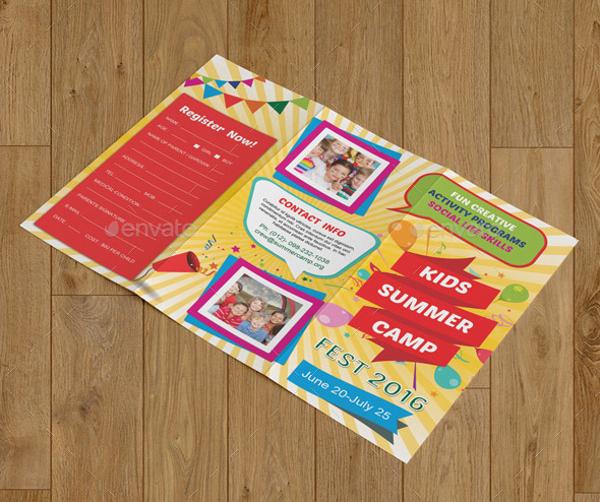 Highly Editable Summer Camp brochure