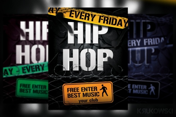 Hip Hop Club Flyer Template