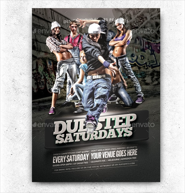 Hip Hop Dance Flyer Design
