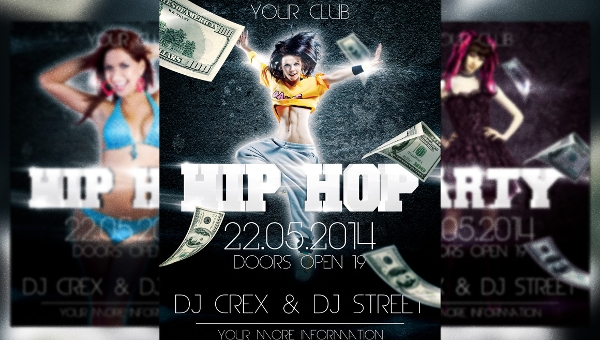 24 Hip Hop Flyers Creatives In Word PSD Publisher Vector EPS