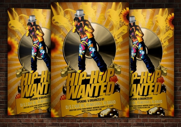 Hip Hop Most Wanted Flyer Template
