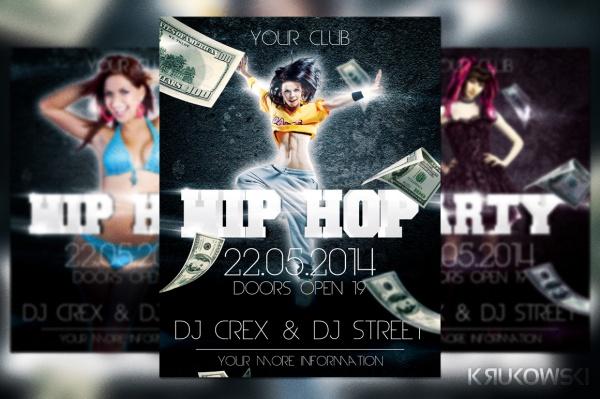 hip hop rap flyer design template