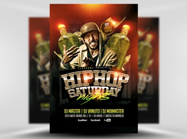 Hip Hop Saturdays Flyer Template