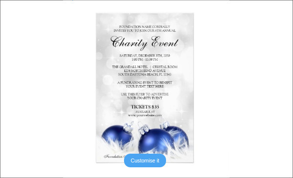 Holiday Flyer Template For Charity Event