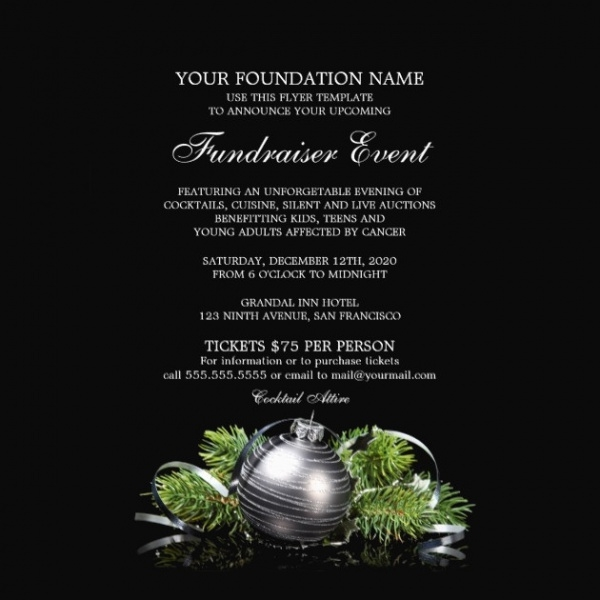 Holiday Fundraiser Event Flyer