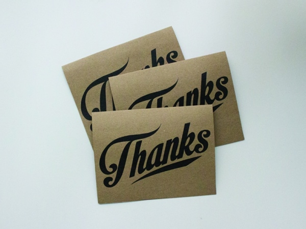 Thank You Notes Typography Card