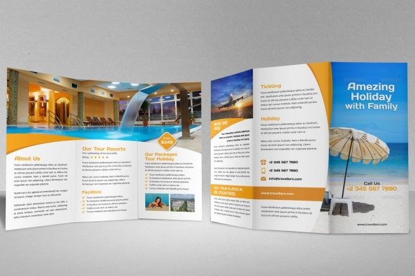 Holiday Travel Agency Bi-fold Brochure