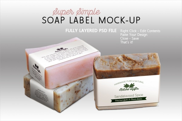 Horizontal Soap Label Bar Design