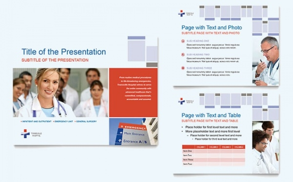 Hospital Project PowerPoint Template