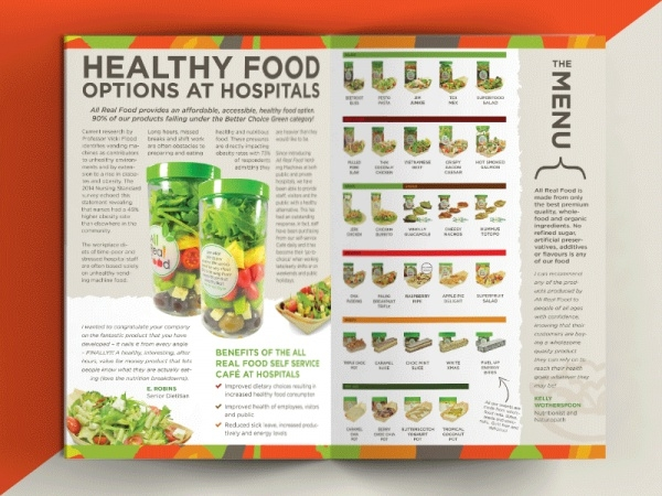 Hospitals Healthy Food Brochure