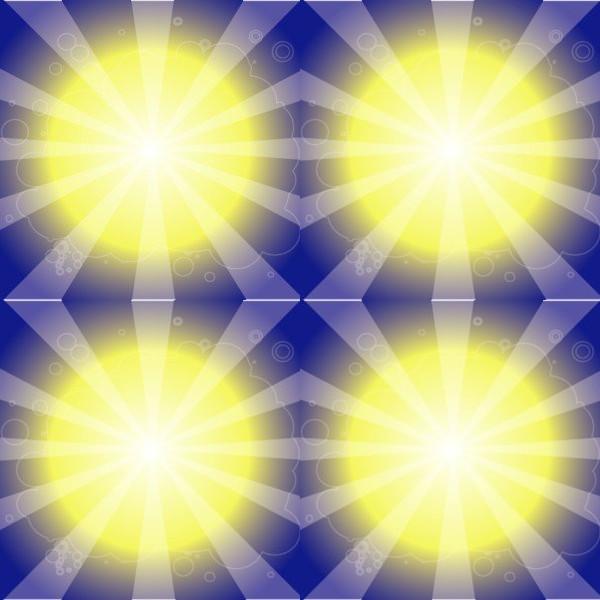 Hot Sun Shining Illustration