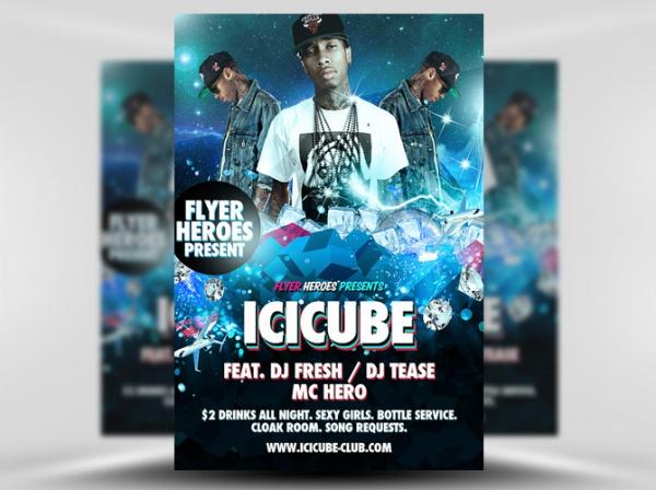 Icicube Night Flyer Template