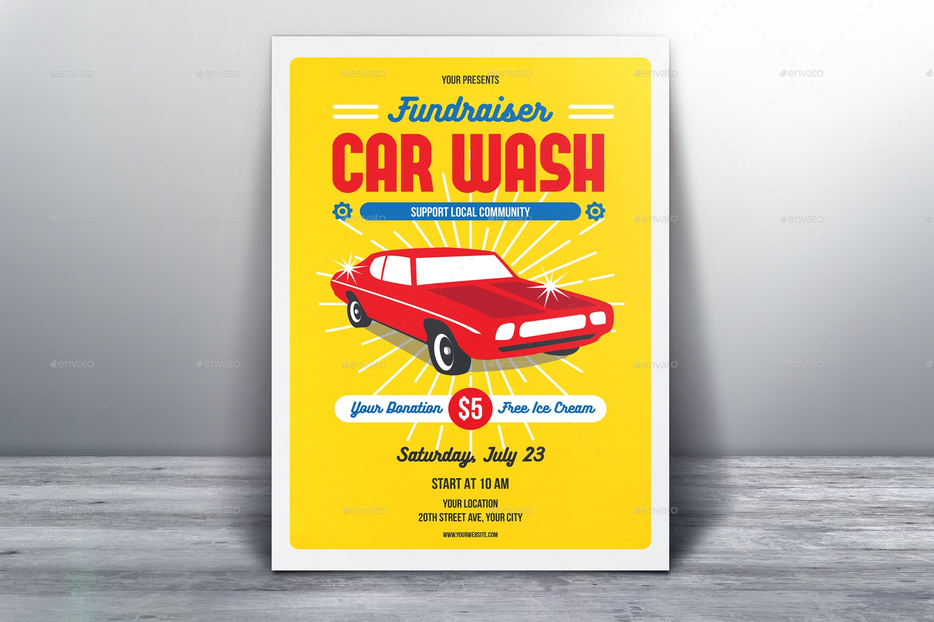Fundraiser Car Wash Flyer