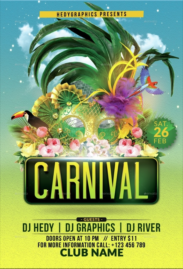 28  modern carnival flyer templates  u0026 creatives