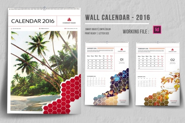 InDesign Wall Calendar