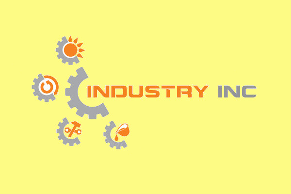 Industrial Recycling Logo Template