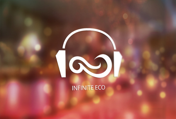 infinite eco vector logo design