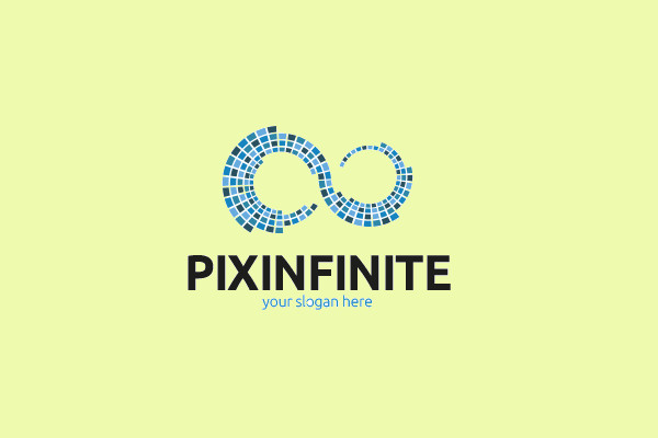 infinite pixel logo design