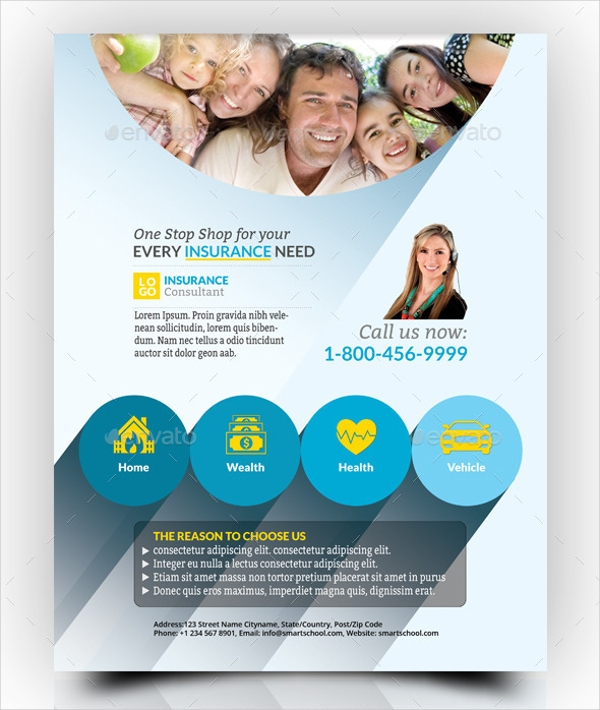 21 insurance flyer designs psd vector eps jpg for Insurance brochure template