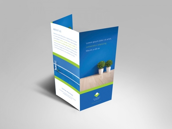 Interior Trifold Commercial Brochure Template