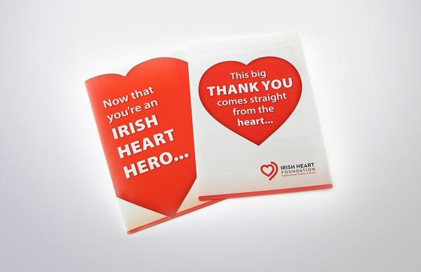 Irish Heart Die Cut Brochure