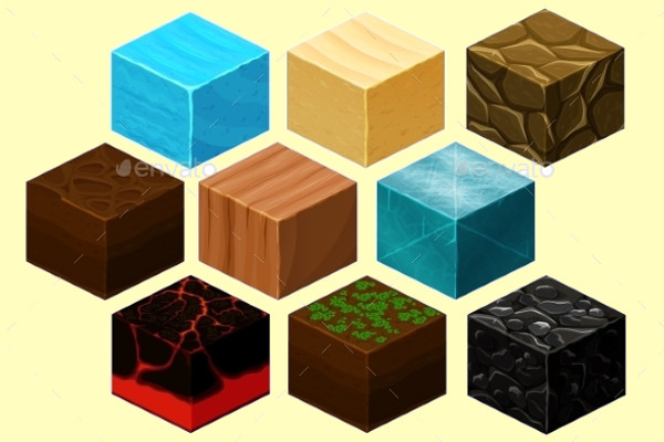 Isometric 3D Cube Texture