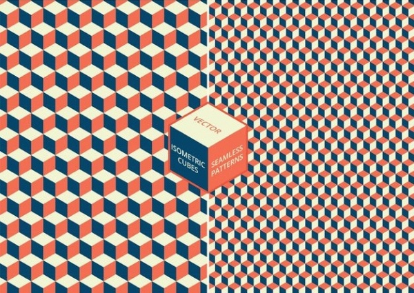 Isometric Puzzle Cubes Patterns
