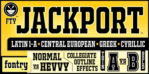 Jackport College NCV Varsity Font
