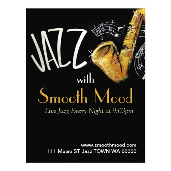 Jazz Music Musician Flyer Invitation