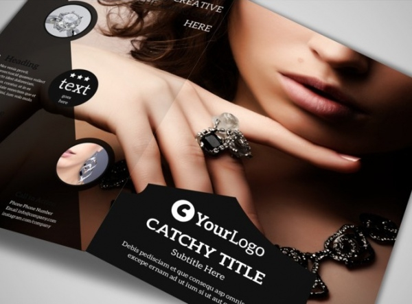 Jeweler & Jewelry Brochure Template