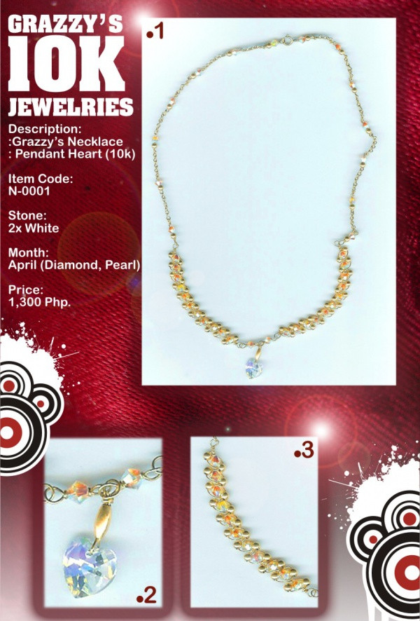 Jewelry Brochure Layout Design 1