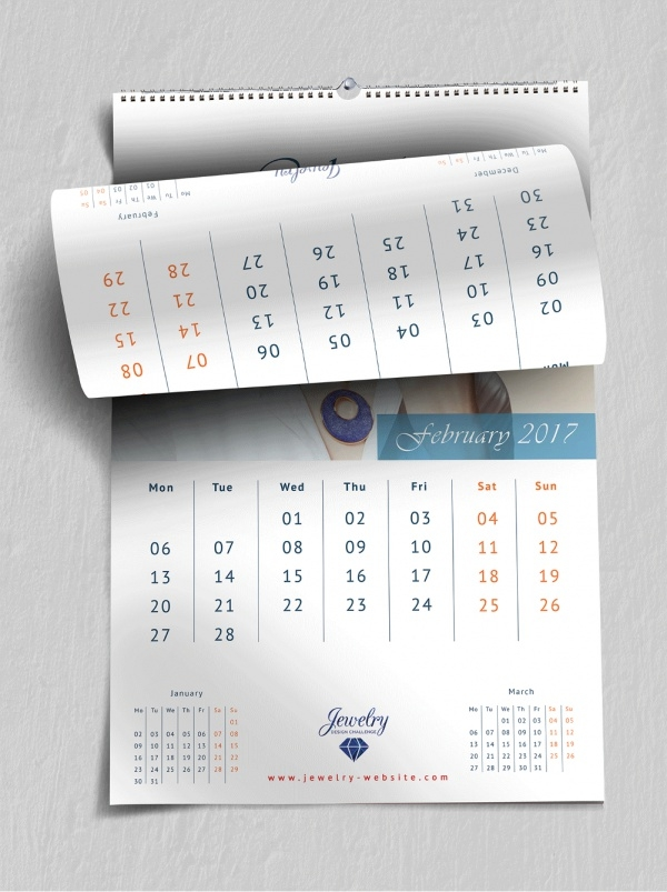 Business Calendar Design : Wall calendar psd vector eps jpg download