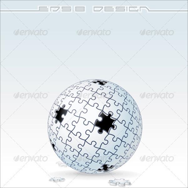 Jigsaw Puzzle Globe Vector