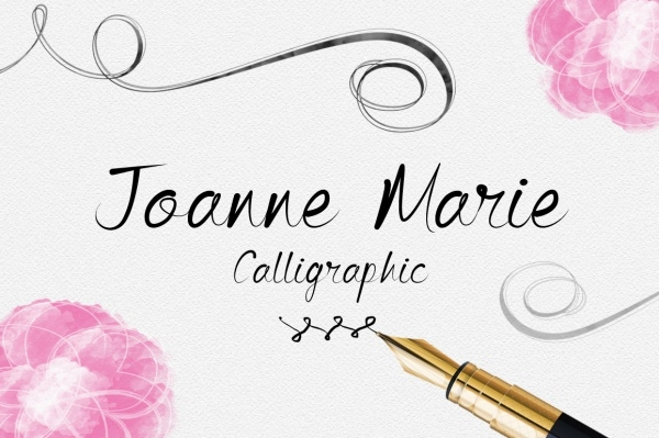 Joanne Marie calligraphic 1